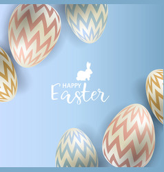 easter eggs on blue background vector image