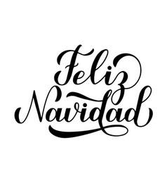 Feliz navidad calligraphy hand lettering isolated vector
