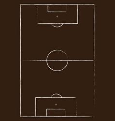 Flat brown field football grass soccer field with vector