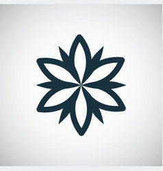 flower icon simple flat element concept design vector image