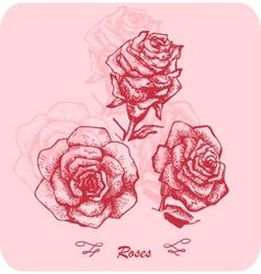 Flower sketch set vector image