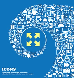 Full screen icon Nice set of beautiful icons vector