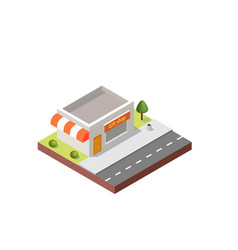 gift shop building in isometric projection vector image