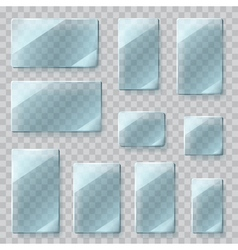 Glass plates vector