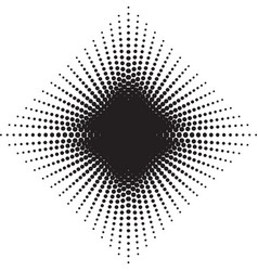 halftone radial pattern background dots texture vector image