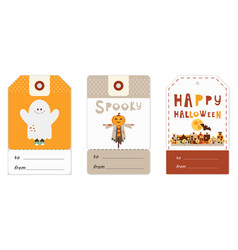 halloween gift tags vector image