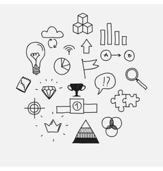 Hand draw doodle elements business scetches vector image