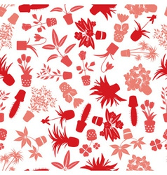Home houseplants and flowers pattern eps10 vector