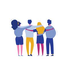 hugging people international human solidarity day vector image
