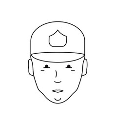 icon of a human face with a cap vector image