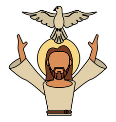 jesus christ holy spirit catholic vector image
