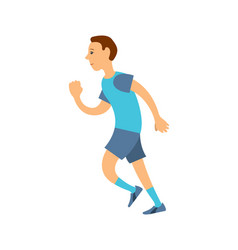Jogger in uniform running long distance isolated vector
