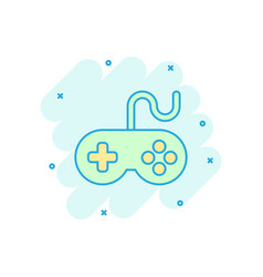 joystick sign icon in comic style gamepad cartoon vector image