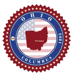 Label sticker cards of State Ohio USA vector