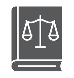 Law book glyph icon justice and law book vector