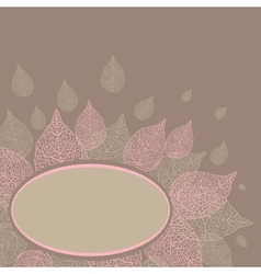leaves with plase for text vector image