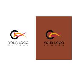 letter c swirl logo vector image