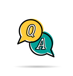 Line icon - questions and answers vector