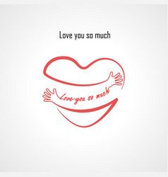 Love you so much typographical design elements vector