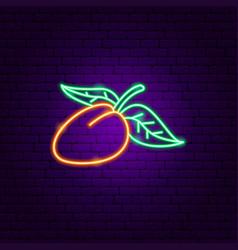 Mango neon sign vector