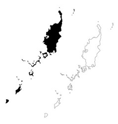 Map palau isolated black on vector