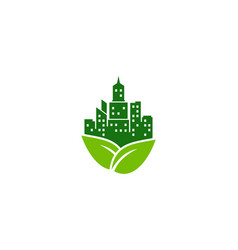 nature town logo icon design vector image