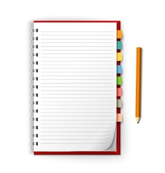 Notepad with reminders and pencil vector