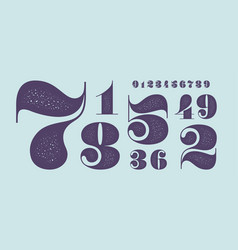 number font classical french didot style texture vector image