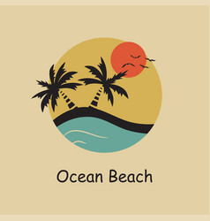 ocean beach vector image