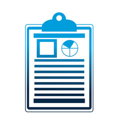 office clipboard document report diagram vector image