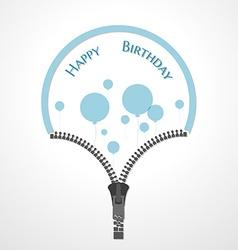 Open zipper and balloons vector