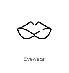 Outline eyewear icon isolated black simple line vector