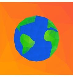 Polygonal earth planet vector