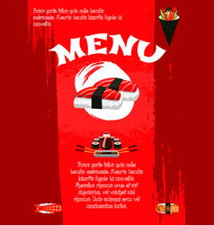 Poster for japanese sushi restaurant vector