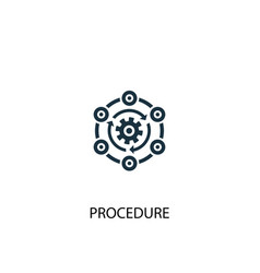 Procedure icon simple element vector