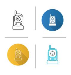 Radio nanny icon vector