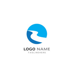 River logo template vector