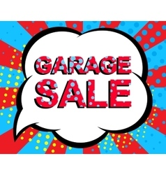 Sale poster with GARAGE SALE text Advertising vector image