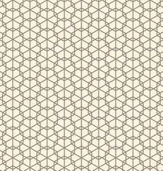 Seamless abstract geometric line hexagon vector image