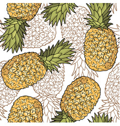 seamless pattern with pineapples graphic stylized vector image