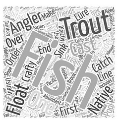 SF trout fishing tips Word Cloud Concept vector