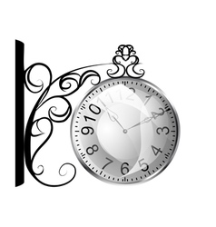 station clock vector image