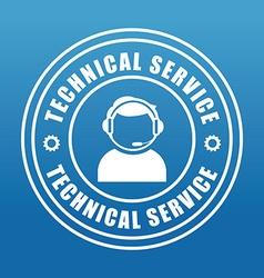Technical service design vector image