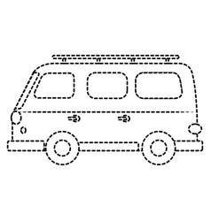 travel van vehicle icon vector image