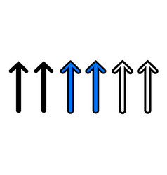 up arrow icon vector image