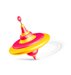 Whirligig toy isolated on white background vector