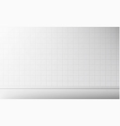 white tile wall and floor in bathroom background vector image