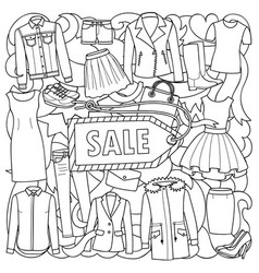 Woman clothes sale pattern vector