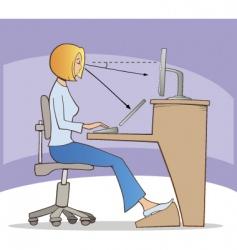 Work on computer vector