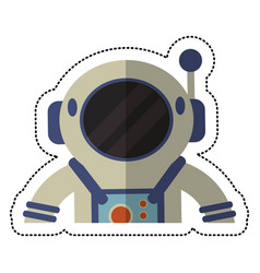 astronaut spacesuit helmet shadow vector image